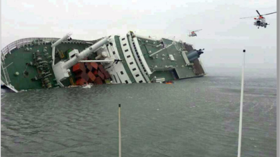 South Korean Ferry Sewol Sinks