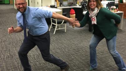 Mr. Raskopf Carries the TORCH